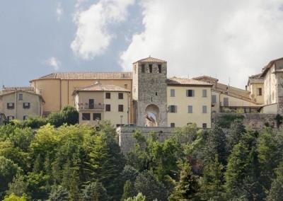 Costacciaro - torre civica facciata