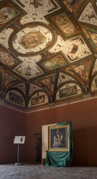 San Giustino - castello bufalini dettaglio soffitto