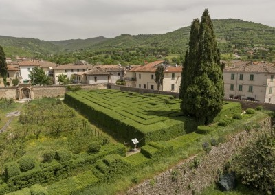 San Giustino - castello bufalini giardino labirinto