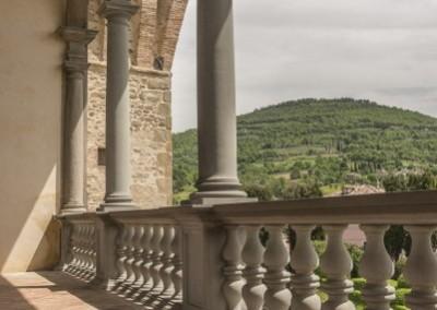 San Giustino - castello bufalini loggiato