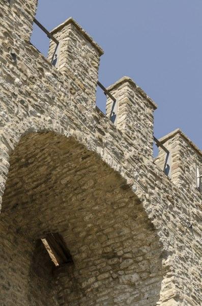 Valfabbrica - torre medievale dettaglio