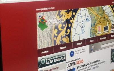 Sito web GAL Alta Umbria
