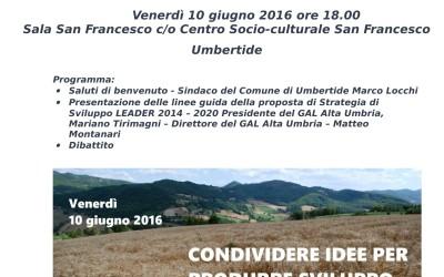 Incontro per la definizione del nuovo Piano di Azione Locale 2014-2020