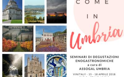 ASSOGAL UMBRIA presenta le eccellenze dell'enogastronomia a Vinitaly 2018                                                                               Verona, 15 – 18 Aprile 2018